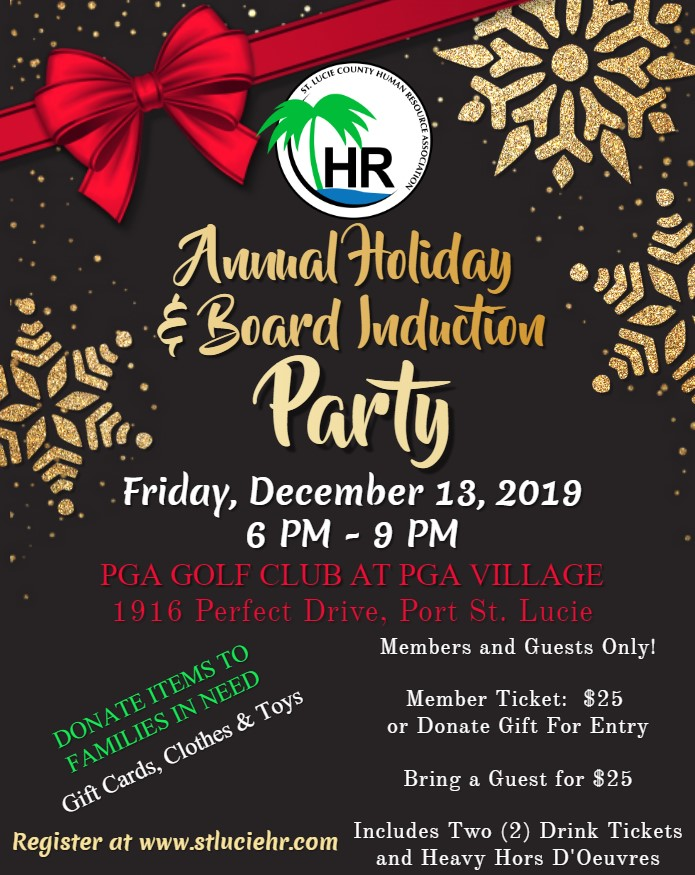 2019 Annual Holiday Party Flyer